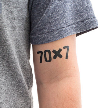 70 x 7 Temporary Tattoo 2-Pack
