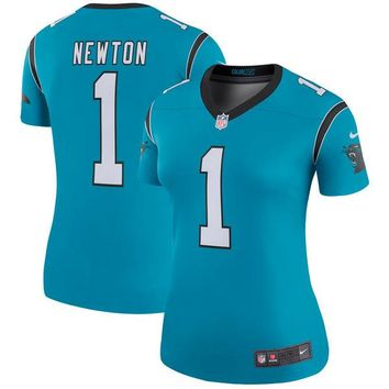 Women's Carolina Panthers Cam Newton Nike Blue Color Rush Legend Jersey