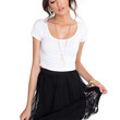 Blossom Lace Skirt - Black