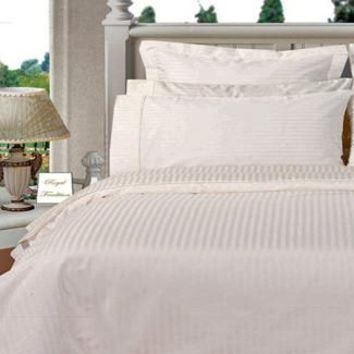 White Twin XL Combed cotton Solid 3Pieces Alternative Comforter set