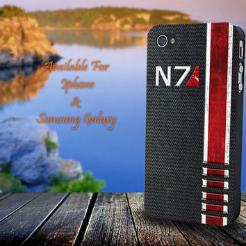 N7 Mass Effect - Print on hard plastic for iPhone case. Please choose the option.