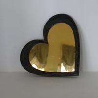 Choice of One Wall Mirror Heart Shape plain and simple wall decor