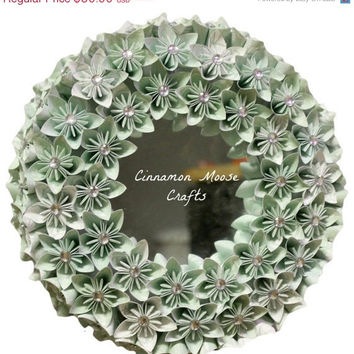 ON SALE Mint Green Mirror Wreath