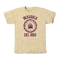Montana Grizzlies Old-School Seal Tri-Blend T-Shirt - White