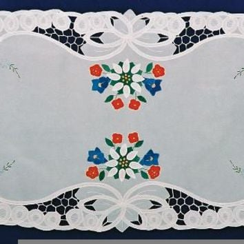German Edelweiss Lace Applique Linens Table