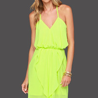 Lime Green Strappy Sleeveless Dress