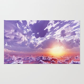 Colorful and energetic sky by healinglove Rug by Healinglove Art Products