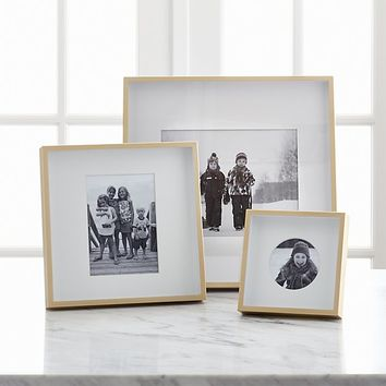 Brushed Brass Picture Frames