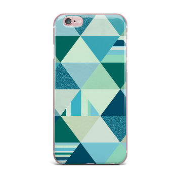 "Noonday Design ""The Triangle Blues"" Geometric Blue iPhone Case"