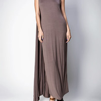 SLEEVELESS LONG MAXI DRESS CAPE.