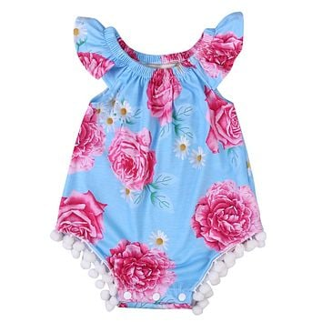 Baby Girls Clothing Toddler Baby Girls Floral Romper Jumpsuit Kids Clothes Outfit Sun suit