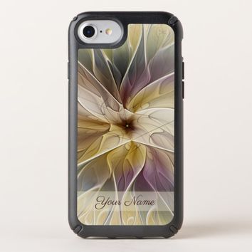 Floral Fantasy Gold Aubergine Fractal Art Name Speck iPhone Case