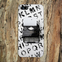Vintage Favorit Typewriter x Alphabet Ink Phone Case for iPhone 6 6 Plus iPhone 5 5s 5c 4 4s Samsung Galaxy s6 s5 s4 & s3 and Note 5 4 3 2
