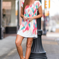 You And I Kaleidoscope Dress, Coral