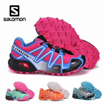 Salomon Speedcross 3 Women Sport Outdoor Shoes Athletic Speed Cross 3 Female Fencing Running Zapatillas Solomon Hombre Mujer