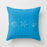 Three Shells #002 Throw Pillow by Nameless Shame