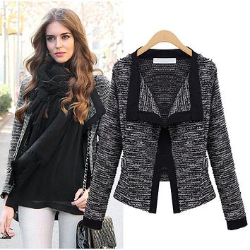 2016 Spring Women Jacket  Quality Linen Ladies Knitted Cardigans Sweater For Winter
