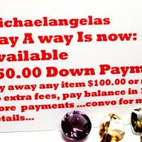 Michaelangelas Lay - A - Way, stretch pay, deposit, down payment, payment plan, no added fees money back guarantee