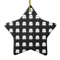 Emoji Baby Vampires Pattern Ceramic Ornament