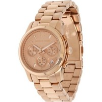 Michael Kors Women's MK5128 Rose Gold Runway Watch - designer shoes, handbags, jewelry, watches, and fashion accessories | endless.com