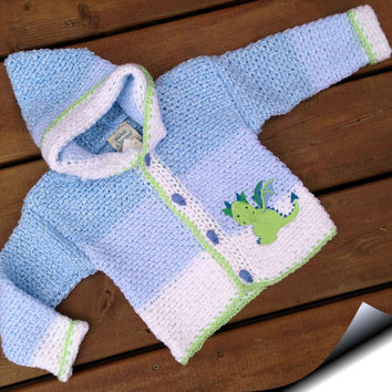 Crochet child Sweater,  Handmade Crochet Baby hoodie - Children's sweater size 2