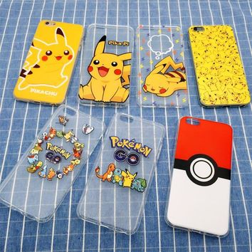 3D Cartoon Pocket Monsters Pokemon Pikachu Case Silicone Ultrathin Anti Knock TPU Cover For iPhone SE 5 5S 6 6S 7 8 Plus X
