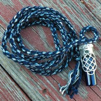 Celtic Knot Bottle Pendant Hand Spun into a Handmade Spirit Cord