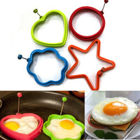 1Piece Cute Silicone Pancake Mould Mold Ring Cooking Fried Egg Shaper Kitchen Tools
