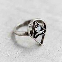 Prism Sky Crystal Ring- Silver