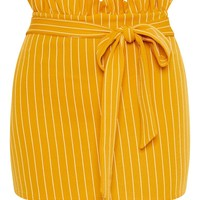 Mustard Paperbag Mini Skirt