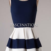 Sleek and Sophisticated Dress - Navy