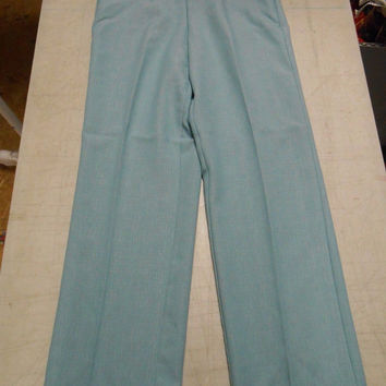 Alfred Dunner Women's Textured Pleated Dress Pants, 12, Seafoam Green