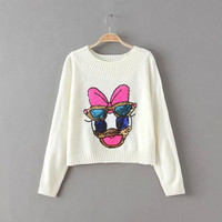 Daisy Duck Sequined Sweater