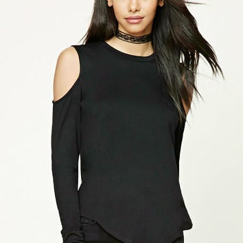 Asymmetrical Open-Shoulder Top