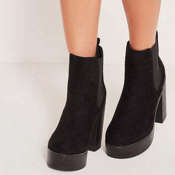 Missguided - 90's Platform Boots Black