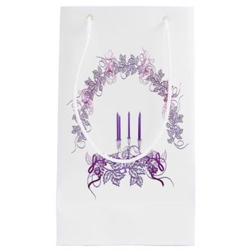 Purple Candles Small Gift Bag
