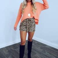 Anything For You Sweater: Coral Peach