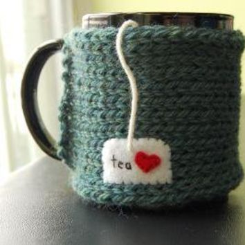 Personalize this Mug Cozy Custom Wording by KnitStorm on Etsy