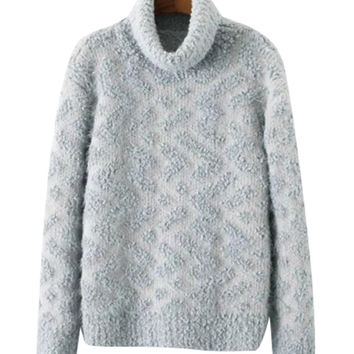 Turtle Neck Chunky Knit Sweater