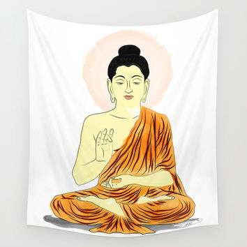 Wall tapestry, Buddha tapestry, Om symbol, wall hanging, A Spiritual Design Positive Lifestyle, wall decor, Home Interior Decoration