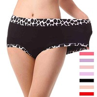 2Pcs/lot Bamboo Stone Pattern Underwears Women Panties Plus Size 6XL Tall waist super-large Sexy lingeries women's briefs