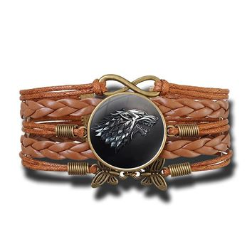 Game of Thrones Woven Leather Bracelet & Bangle
