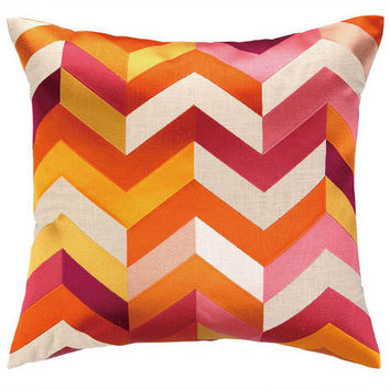 Arrow Pink Orange Throw Pillow