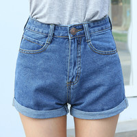 Waist Denim Shorts XS 4XL Short Jeans Summer