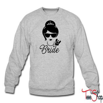 Bride Wedding Marriage Stag do Hen night party crewneck sweatshirt