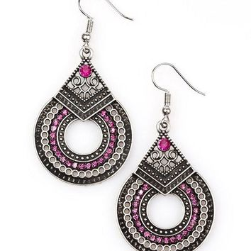 Paparazzi Earrings-My Favorite Color is Glitter-Pink