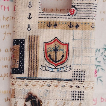 Diy Handmade Cloth Art Phone Case no.59 Sea and Anchors for Galaxy S2 S SL S3 Ace 2 plus Nexus Note1 Note2 Sony Ericsson SE Arc S X10 X8
