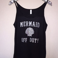 Mermaid Off Duty - Ruffles with Love - Womens Fitness Clothing - Workout Tank