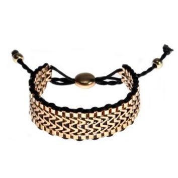 BLACK & GOLD FRIENDSHIP BRACLET