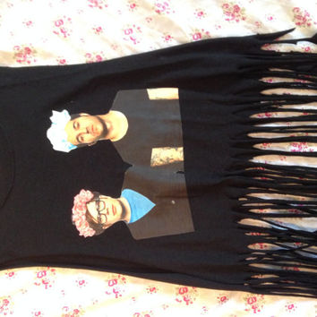 Fall Out Boy Floral Crown Shirt with Fringe